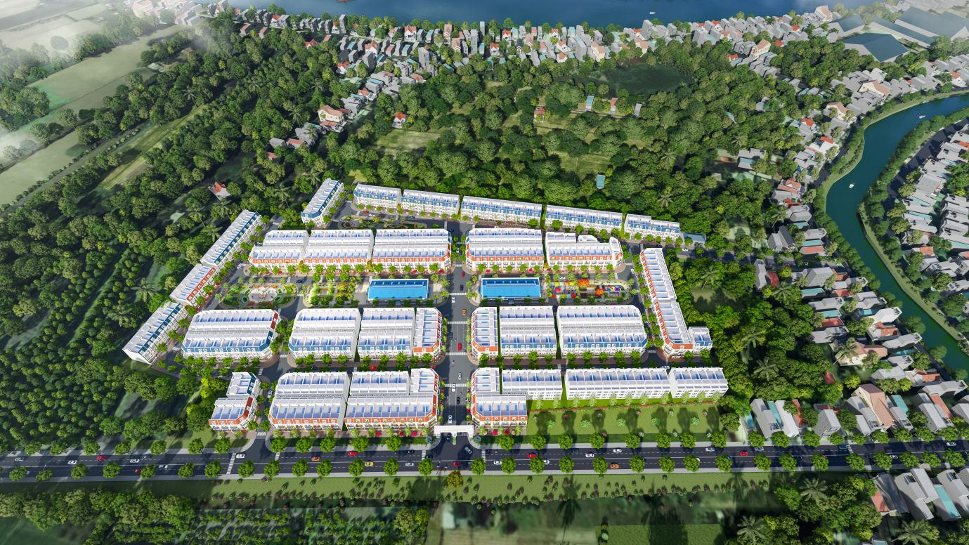 Phối cảnh tổng thể dự án Khu dân cư chợ An Long
