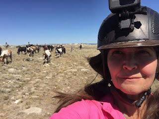 riitta kosonen hevosajossa Idahossa