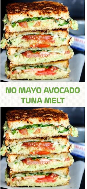 No Mayo Avocado Tuna Melt