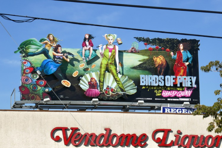 Birds of Prey movie billboard