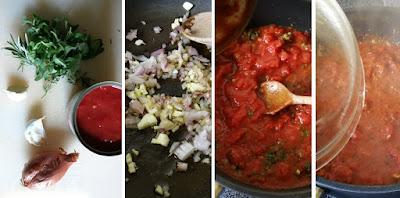Tiefkühlpizza selbstgemacht - Zubereitung Tomatensauce