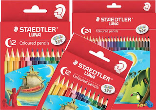 STAEDTLER LUNA Coloured adalah pensil warna terbaik untuk anak yang baru belajar menggambar.