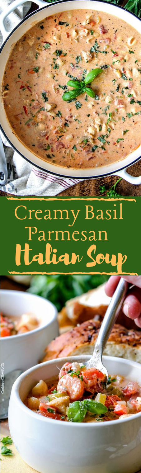 CREAMY ITALIAN SOUP #dinner #healthylunch #yummy #soup #easy