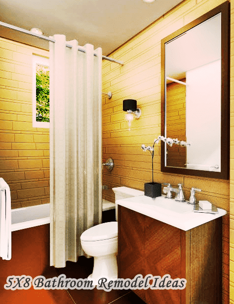 5X8 Bathroom Remodel Ideas with shower curtain