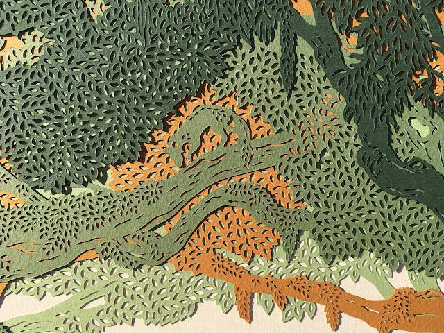 """papercut """"wedding keepsake"""" fox """"handmade papercut"""" ketubah"""