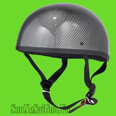 Sơn màu bóng, nhám, sơn carbon mũ bảo hiểm xe máy