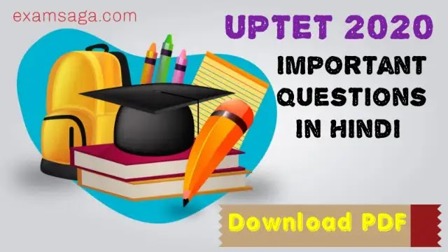 UPTET Important Questions In Hindi  [PDF] | UPTET 2021