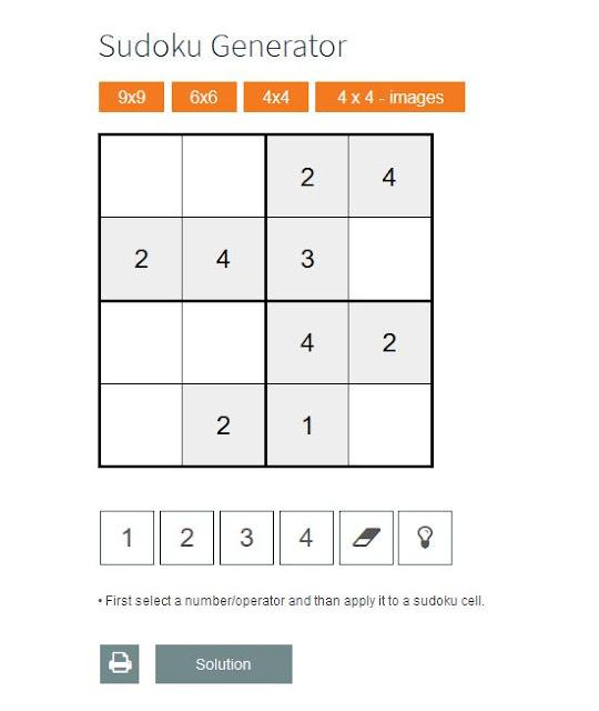 generador de sudokus de números
