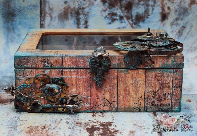 Męska szkatułka na zegarki w stylu steampunk / Steampunk casket for watches