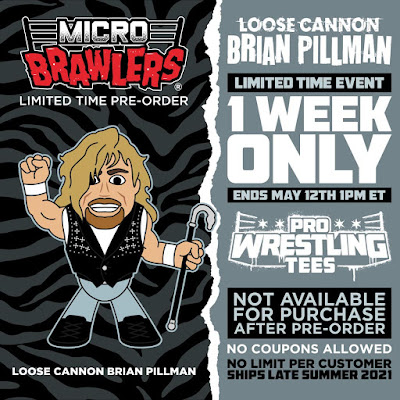 Loose Cannon Brian Pillman Micro Brawlers Figure by Pro Wrestling Tees
