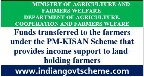 Funds transferred to the farmers under the PM-KISAN