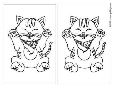 Imágenes para colorear de encuentra la diferencia
