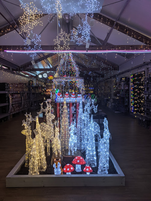 Christmas Decorations at Azure Garden Centre