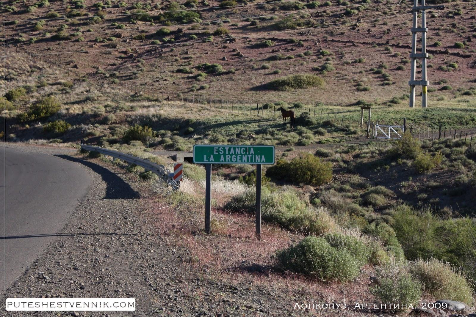 У трассы в Аргентине