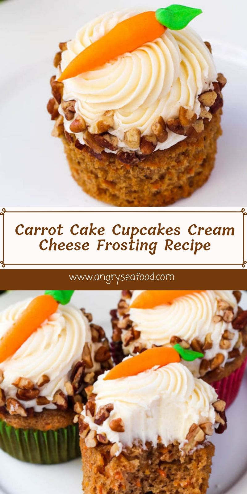 Carrot Cake Cupcakes Cream Cheese Frosting Recipe
