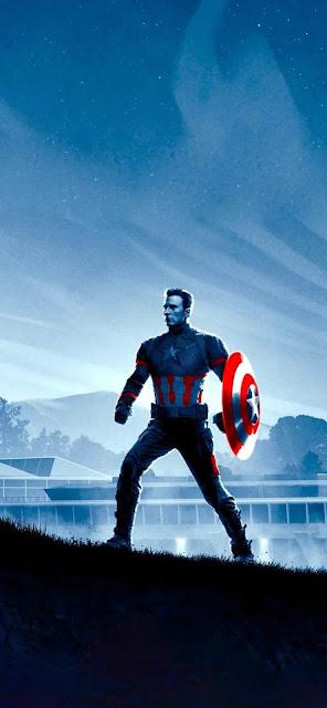 captain america with mjolnir wallpaper