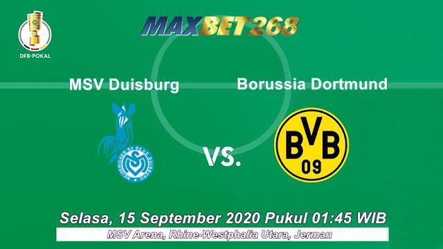Prediksi MSV Duisburg Vs Borussia Dortmund, Selasa 15 September 2020 Pukul 01.45 WIB