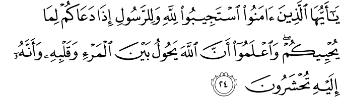 Surat Al Anfal Ayat 24