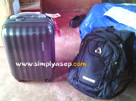 KOPER : Inilah tas koper dari Korea.  Foto dok Asep Haryono