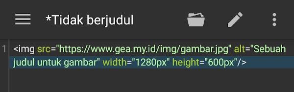 Menambahkan gambar pada HTML