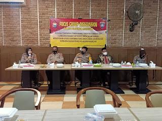 Hadirkan Kamtibmas Kondusif, Polres Pelabuhan Makassar gelar Focus Group Discussion