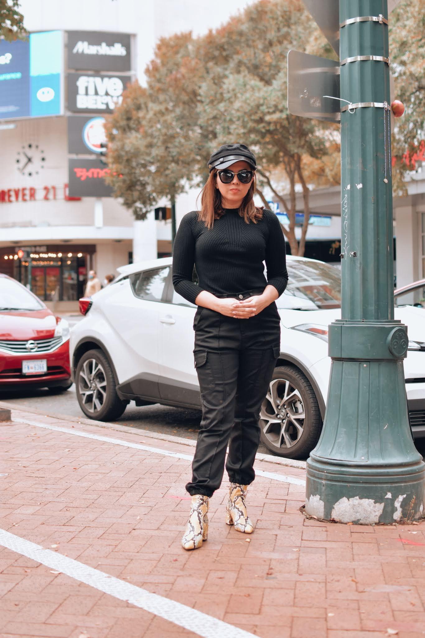 Black Cargo Pants-mariestilo-como crear outfits desde cero-