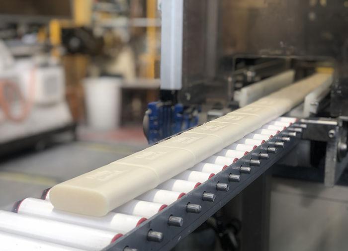 Línea de producción de una fábrica de jabón
