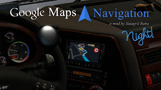 cover ets 2 google maps navigation night version