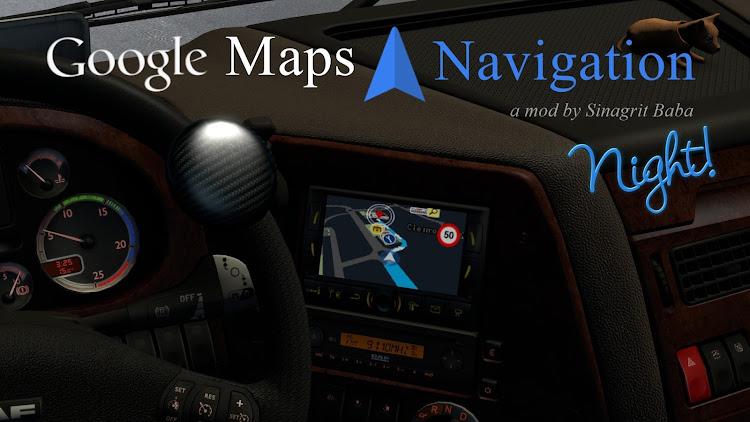 cover ets 2 google maps navigation night version