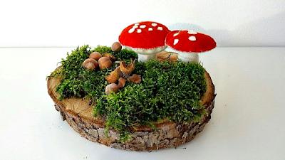 Vilten paddenstoelen seizoentafel antroposofisch Atelier de Vier Jaargetijden