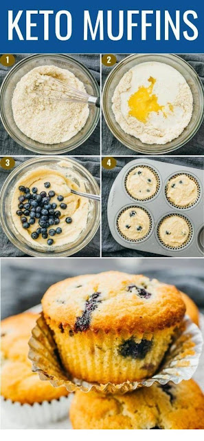 Blueberry Muffins With Almond Flour