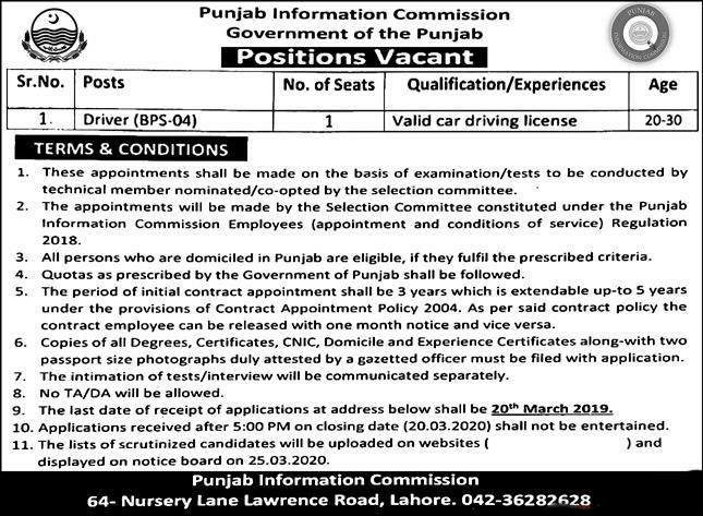 Punjab-Information-Commission-Government-of-the-Punjab-Jobs-2020-Latest