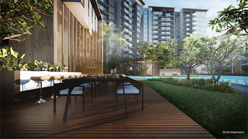 Affinity at Serangoon - Out Door Dining