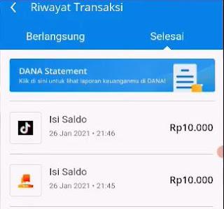 proses penarikan uang dari TikTok Atau Helo ke DANA