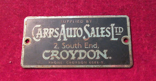 Carrs Auto Sales  Ltd Croydon metal supplier badge