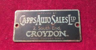 Carrs Auto Sales  Ltd Croydon metal supplier badge