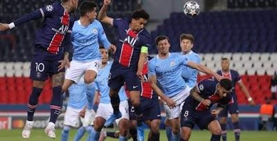 باريس سان جيرمان يتقدم علي مانشستر سيتي بهدف دون رد في الشوط الأول من دوري أبطال أوروبا