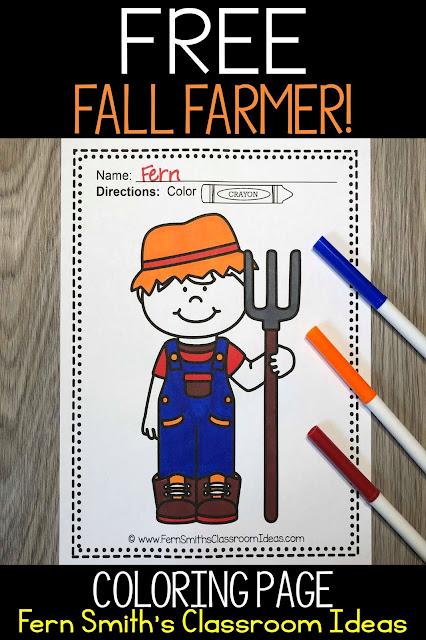 Farm Fun Coloring Page Freebie #FernSmithsClassroomIdeas