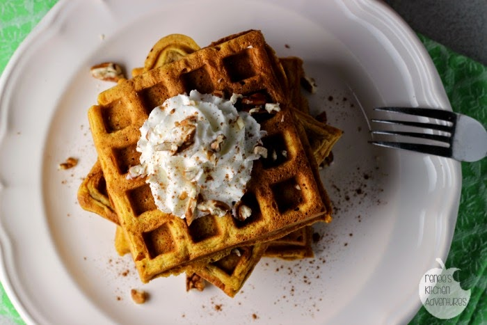 Pumpkin Spice Buttermilk Waffles: a taste of Fall for breakfast