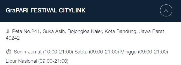 Alamat GraPARI Telkomsel Bandung: Jl. Peta No.241