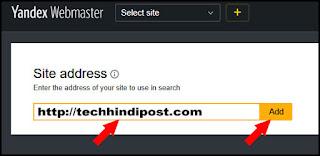 yandex page me blog url enter kijiye