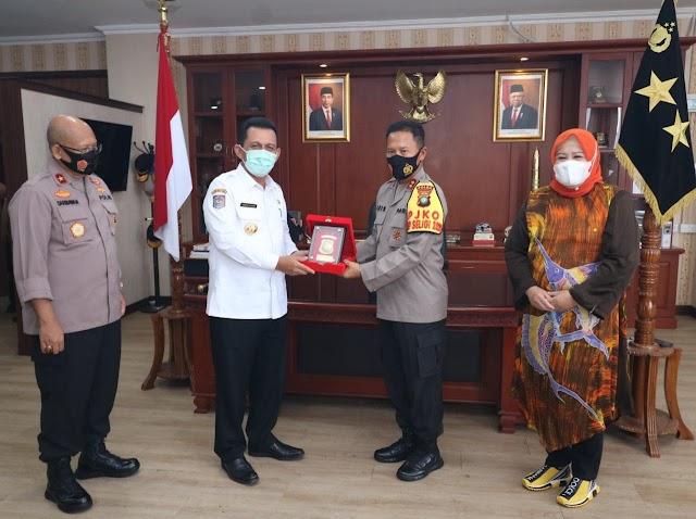 Kunjungan dan Silaturahmi Gubernur Dan Wakil Gubernur Provinsi Kepri di Polda Kepri
