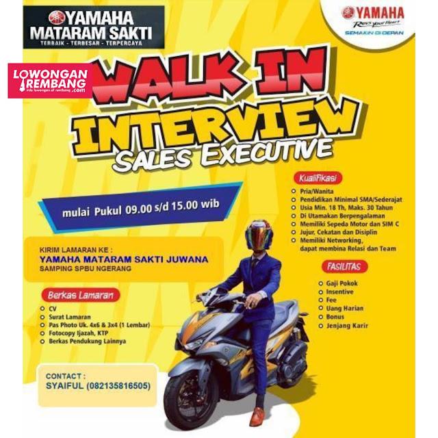 Lowongan Kerja Sales Executive Yamaha Mataram Sakti Juwana