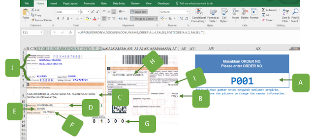 EBook Formula Excel Template Poslaju Database System