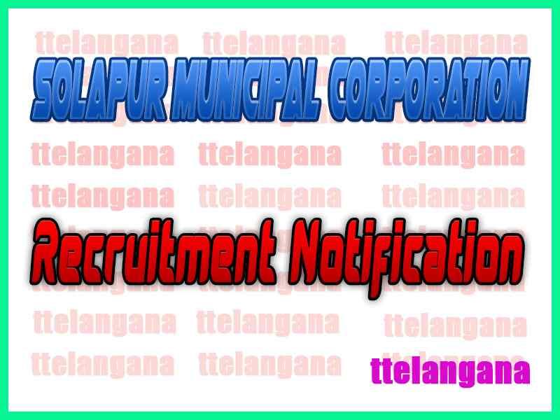Solapur Municipal Corporation Recruitment Notification