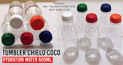 COCO Hydration Water Bottle, Bottle Plastik Coco Hydration Water Bottle, Barang Promosi Drinkware CHIELO Coco sports bottle