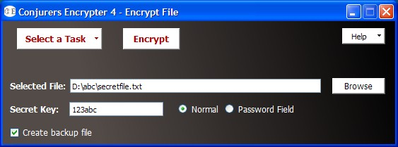 Conjurers Encrypter Screenshot