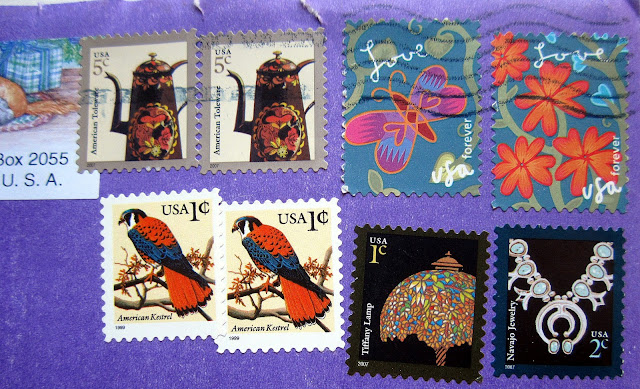 colorful stamps