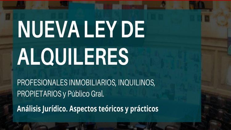 Conferencia online sobre Ley de Alquileres, análisis jurídico, aspectos teóricos y prácticos