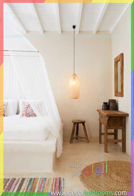 أفكار غرف نوم بلون البيج الفاتح الجميل